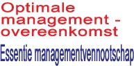 Optimale managementovereenkomst